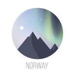 Aurora boreal de Noruega Foto de archivo libre de regalías