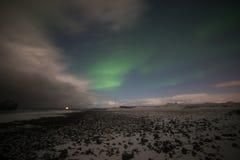 Aurora boreal em Islândia Imagens de Stock