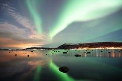 A aurora boreal em Noruega Fotos de Stock