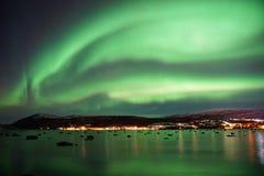 A aurora boreal em Noruega Fotos de Stock Royalty Free