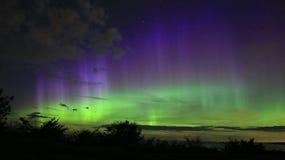 Aurora boreal en el acantilado del risalu del ¼ de TÃ Imágenes de archivo libres de regalías