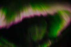 Aurora boreal en el cielo nocturno Fotografía de archivo