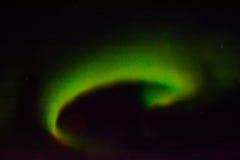 Aurora boreal en el cielo nocturno Foto de archivo libre de regalías