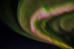 Aurora boreal en el cielo nocturno Imagen de archivo