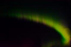 Aurora boreal en el cielo nocturno Fotos de archivo libres de regalías
