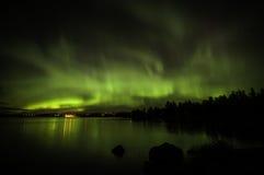 Aurora boreal en Finlandia Imagen de archivo libre de regalías