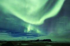 Aurora boreal en Islandia fotografía de archivo