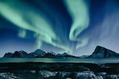 Aurora boreal en Noruega fotografía de archivo libre de regalías