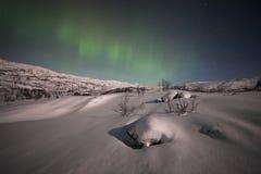 Aurora boreal en Suecia Fotos de archivo