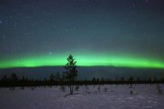 Aurora boreal espectacular en Laponia finlandesa Fotografía de archivo libre de regalías