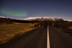 Aurora boreal, Islandia Imágenes de archivo libres de regalías