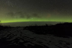 Aurora boreal Islandia imagen de archivo libre de regalías