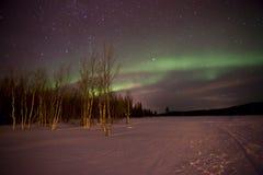 Aurora boreal, Laponia - luosto Fotografía de archivo