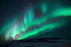 Aurora boreal na ilha fotos de stock royalty free