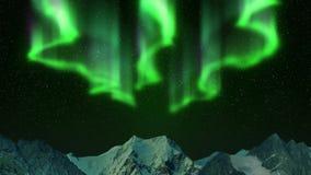 Aurora boreal nas montanhas vídeos de arquivo