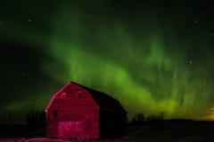Aurora boreal nas pradarias Fotografia de Stock