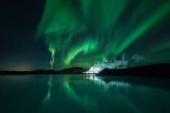 Aurora boreal Foto de archivo