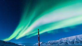 Aurora boreal polar en Noruega Imágenes de archivo libres de regalías