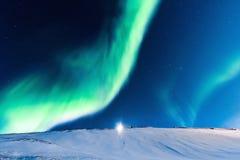 Aurora boreal polar en Noruega Fotografía de archivo libre de regalías