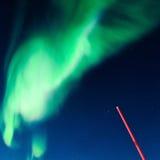 Aurora boreal polar en Noruega Fotos de archivo libres de regalías