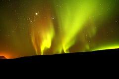 Aurora boreale fotografie stock libere da diritti