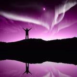 Aurora boreale, aurora Immagine Stock Libera da Diritti