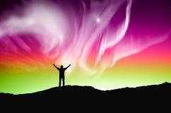 Aurora boreale, aurora Fotografie Stock Libere da Diritti