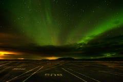 Aurora boreale (Aurora Borealis) in Islanda Immagine Stock Libera da Diritti