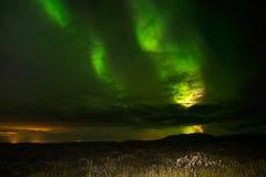Aurora boreale (Aurora Borealis) in Islanda Fotografia Stock Libera da Diritti