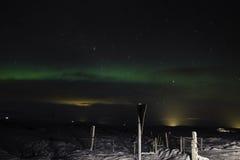 Aurora boreale dell'Islanda Fotografia Stock Libera da Diritti