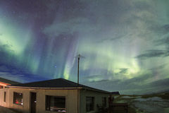 Aurora boreale nel cielo dell'Islanda Immagini Stock Libere da Diritti