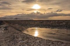 Aurora boreale nel cielo dell'Islanda Fotografie Stock Libere da Diritti