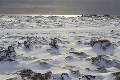 Aurora boreale nel cielo dell'Islanda Fotografia Stock Libera da Diritti