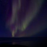 Aurora Borealis över fjärden 013 Arkivfoton