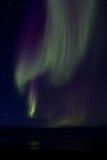 Aurora Borealis över fjärden 015 Arkivbild