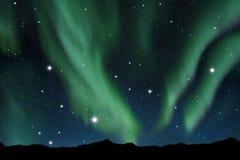 Aurora borealis. Illustration of the aurora borealis in the sky Royalty Free Stock Photo
