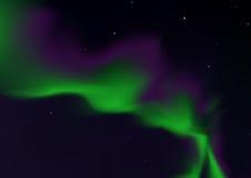 Aurora borealis. Bright merry dancers, ial illustration Stock Images