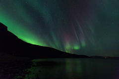 Aurora Borealis Arkivfoto