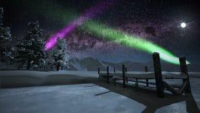 Aurora Borealis almacen de metraje de vídeo