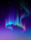 Aurora Borealis, abstract polar night sky background illustration Stock Image