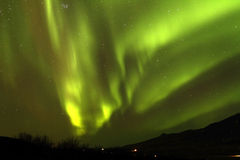 Aurora Borealis. As seen in Iceland on 10th March 2013 stock photo