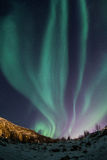 Aurora borealis au-dessus de Tromso Images stock