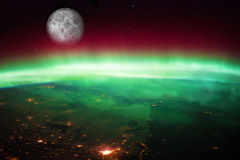 Aurora Borealis Australis stock images