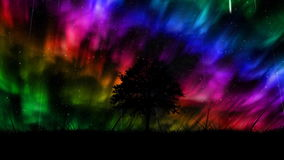 Aurora borealis background. Full HD