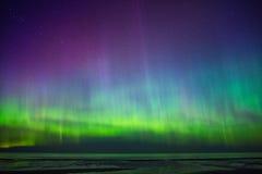 Aurora Borealis. Beautiful Aurora Borealis over sea Royalty Free Stock Photo