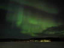 Aurora borealis Bildschirmanzeige Lizenzfreies Stockbild