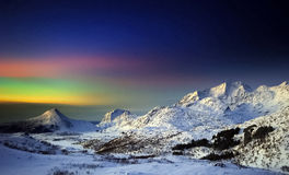 Aurora Borealis in daglicht Stock Afbeelding
