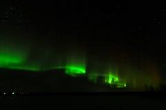 Aurora borealis dans le kattisberg, Suède Photos libres de droits