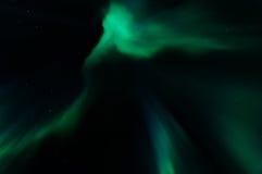 Aurora borealis dans le kattisberg, Suède Photos stock