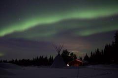 Aurora borealis dans le Suédois Laponie image libre de droits